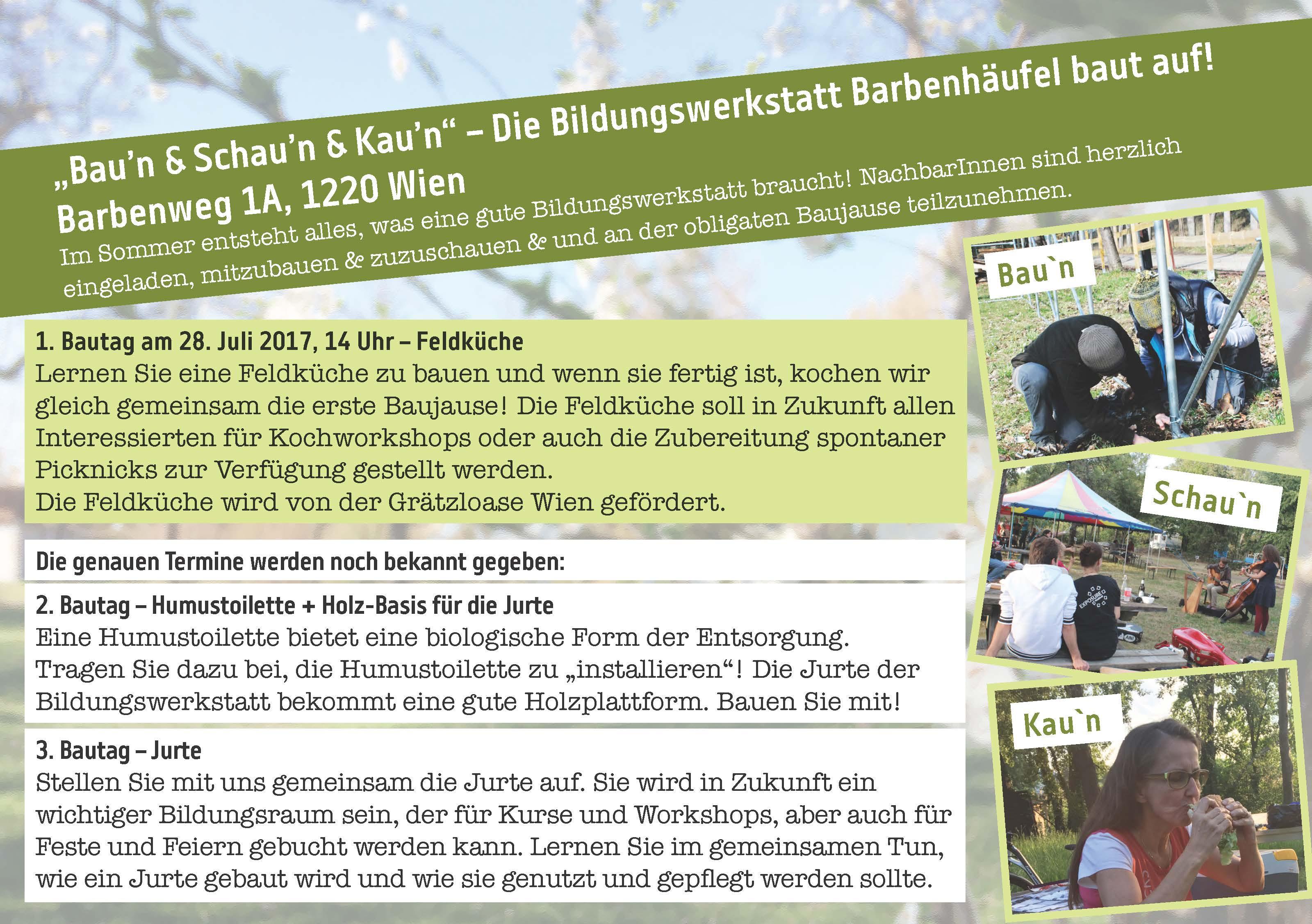 Die Feldküche Wird Von Der Grätzloase Wien Gefördert.